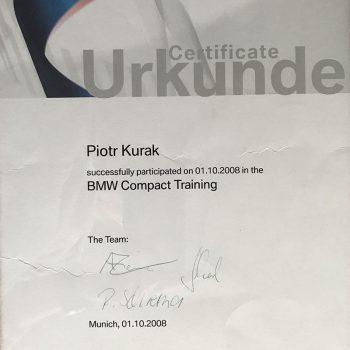 Certyfikat Urkunde