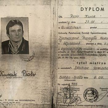 Dyplom Blacharz Samochodowy